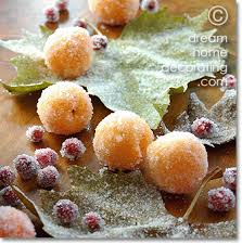 christmas table decoration idea frosted fruit xmas table decorations
