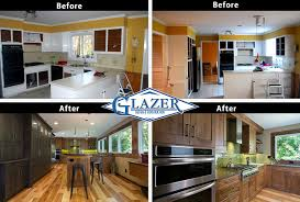 Kitchen Remodel Before After by Atlanta Home Remodeling Cost Verses Value Glazer Construction