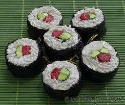 sushi ornaments beef maki by morgancrone on deviantart