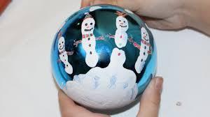 snowman christmas tree ornament youtube