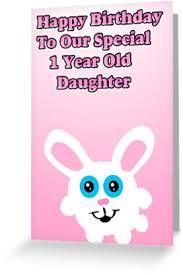kawaii bunny 1 year old birthday card