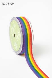 buy ribbon 7 8 inch grosgrain woven rainbow ribbon buy ribbons online