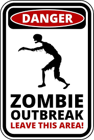 funny warning sign danger zombie outbreak sticker self adhesive funny warning sign danger zombie outbreak sticker self adhesive well and truly stuck stickers
