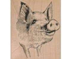 pig stamp etsy