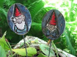 Gnome Garden Decor Gnomes Garden Stakes Gnome Planter Decor Gnomes Garden