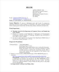 engineering resume exles internship objective for resume in science college internship resume exles