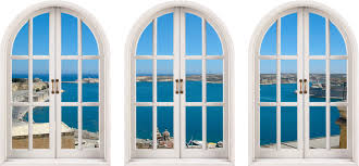 huge 3d arched window exotic beach view wall stickers film mural huge 3d arched window exotic beach view wall stickers film mural art decal sm19 533