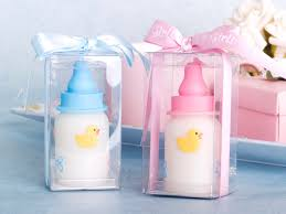 baby bottle candles blue or pink baby bottle candle favors 9401bl pk 2 50