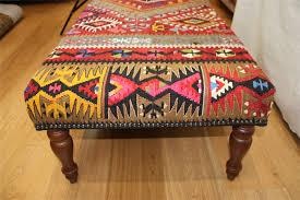 Antique Ottoman Beautiful Antique Kilim Ottoman Stools Kilim Furniture 5449