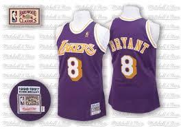 men u0027s kobe bryant authentic purple mitchell and ness jersey small