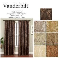 vanderbilt paisley jacquard curtains 108 inch