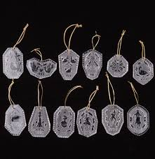 complete waterford set 12 days of ornaments ebth