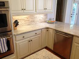 Kitchen With Stone Backsplash by Cute Kitchen Backsplash White Cabinets Stone Backsplash Ideas For