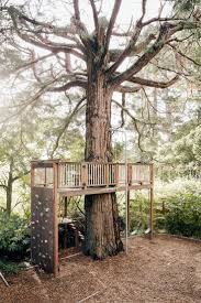 outdoor diy treehouse for creative and refreshing outdoor