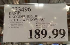 8000 Btu Window Air Conditioner Reviews Danby Dac080eub3gdb Window Air Conditioner 8000 Btu Costco