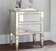 Mirrored Nightstand Sale Park Mirrored 2 Drawer Bedside Table Pottery Barn