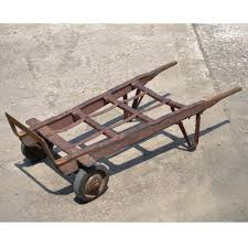 antique industrial steampunk distressed iron amp wood hand truck