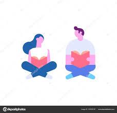 imagenes animadas sobre amor personas leyendo libros sentados suelo amor lectura dibujos animados