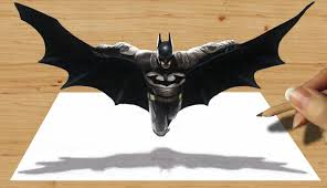 3d pencil drawing batman speed draw jasmina susak 3d art