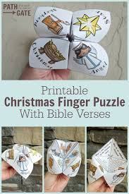 adorable printable christmas finger puzzle with bible verses