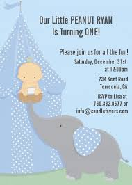 first birthday invitations our little peanut boy