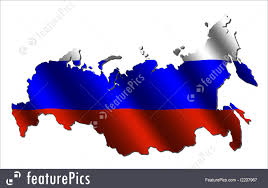 Russian Map Illustration Of Russia Map Flag