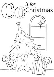 christmas coloring pages crayola letter c is for christmas coloring page download education