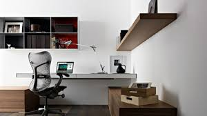 Home Office  Furniture Contemporary Design Of Work Desk Idea With - Home office desk ideas