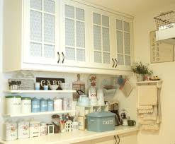 shabby chic kitchen furniture kitchen cabinet blinds the upper and lower cabinets are fr u2026 flickr
