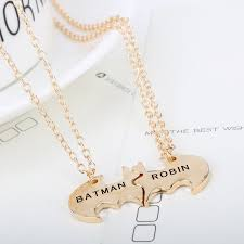 1pack 2pcs necklace for batman and robin ornaments collar
