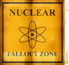 Nuclear Fallout Map by World Map Nuclear Waste Radioactive Hazard Zone Stock Image