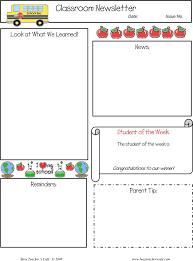 classroom newsletter template template free download speedy