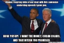Bill Clinton Meme - the real deal obama bill clinton meme politicalmemes com