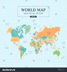 World Map Picture World Map Full Color High Detail Stock Vector 278897954 Shutterstock