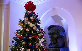 Images Of Christmas Decorated Houses The White House Holiday Decorations For The Obama Family U0027s Last