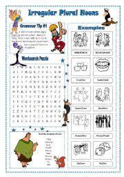 worksheet irregular plural nouns