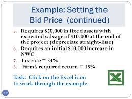 bid rate capital investment decisions ppt