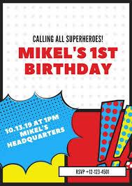 superhero flyer template best 25 superhero invitations ideas on