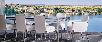 high end outdoor dining furniture shell chair shell collection