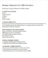 Sample Resume For Mba Freshers by Sample Mba Finance Resumes For Freshers Resume Templates 30