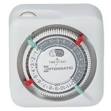 Outdoor Digital Timer Electrical Timers by Intermatic 15 Amp Plug In Lamp And Appliance Timer White Tn111k