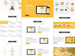 corporate yellow website template sketch app free psds u0026 sketch