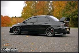 mitsubishi lancer black modified modified cars evo 8 in black