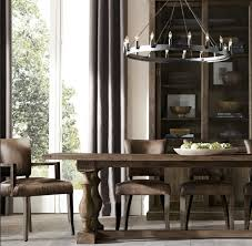 Restoration Hardware Trestle Table Knock Off by Silla Modelo Adele Rh En Cuero Mesas Y Sillas Restoration