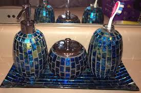 Blue Glass Bathroom Accessories Bathroom Attractive Acrylic Blue Bathroom Accessories With