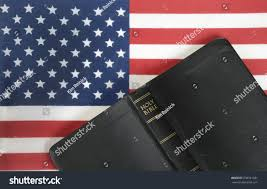 Flag With Bible Bible American Flag Background Stock Photo 338391281 Shutterstock