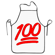 100 emoji red logo aprons chef personalized kitchen aprons blue