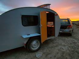 subaru camping trailer blonde coyote u0027s teardrop trailer