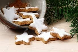 cinnamon stars traditional christmas cookies in german called