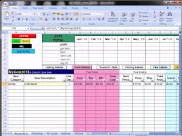 Accounting Spreadsheets Excel Ebay Profit Track Sales Excel Spreadsheet Ebay Spreadsheet